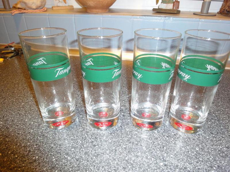 Tanqueray highball glass - Olgavej 3 - 4 x Vintage Tanqueray Collins Glasses - Olgavej 3