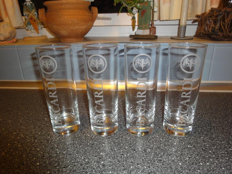 Bacardi highball glasses - Olgavej 3 - 4 x bacardi highball glasses - Olgavej 3