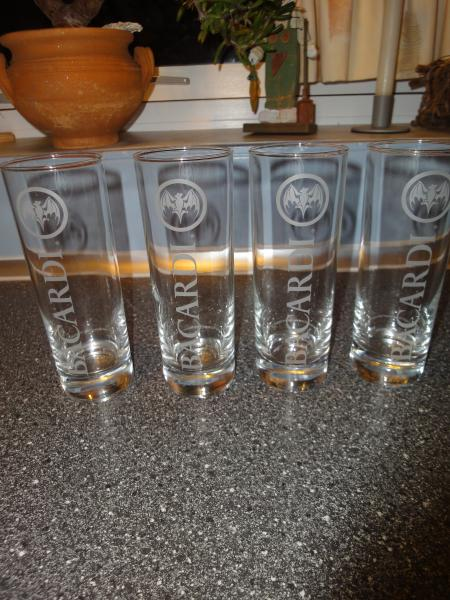 Bacardi highball glasses