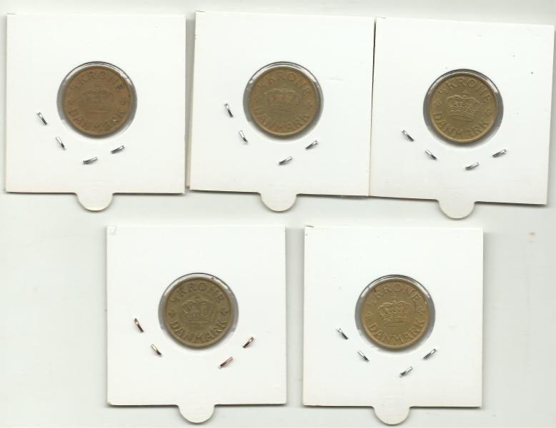 Alle danske ½ kroner