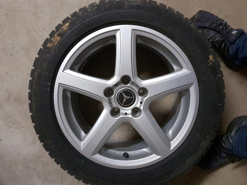 Dæk på fælge - Danmark - Brugte dæk på fælge, 16″ – 205-55R Kom med et bud. - Danmark