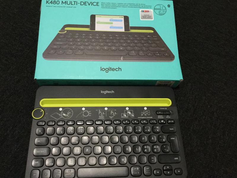 Logitech Ipad tastatur - Violvej - Ubrugt tastatur til ipad. Kompatibel med windows, mac, chrome, androis og ios - Violvej