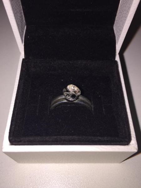 Spinning sølv ringe