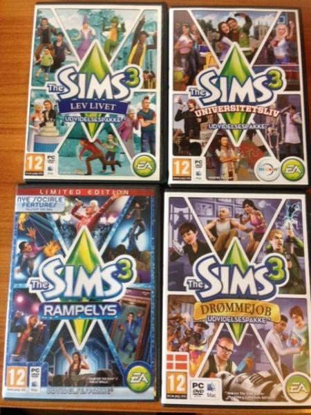 Sims 3 + mange ekstrapakker