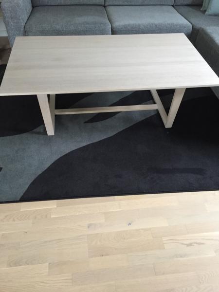 Skovby sofabord hvid olie eg