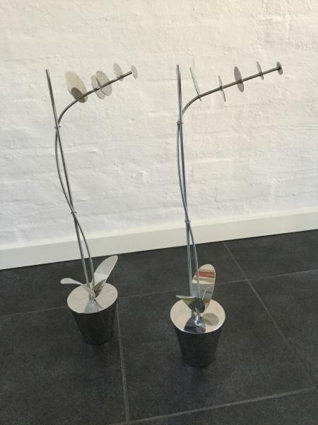 Potteplanter i stål