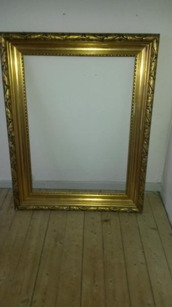 Kæmpe stor guld ramme