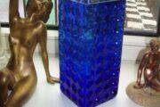 Smuk kobolt blå vase