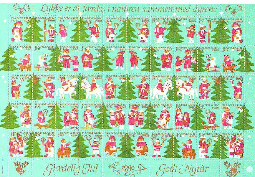 9 Hel ark julefrimærker