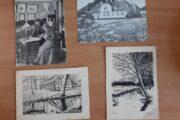 4 postkort fra Skive området