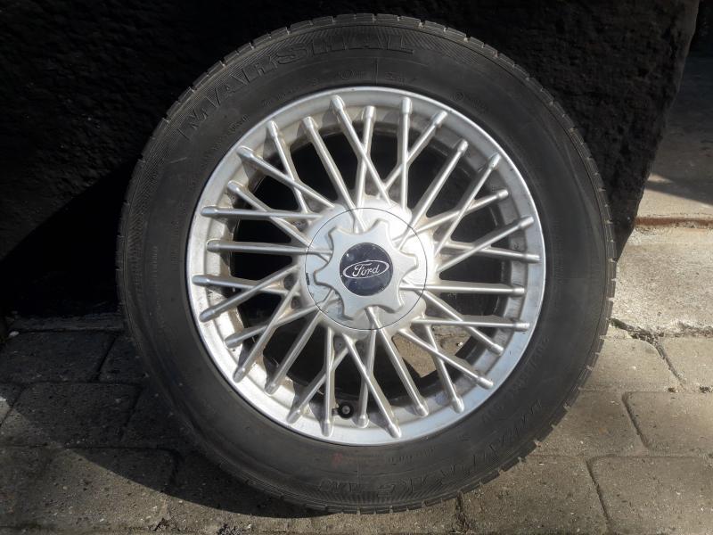 Alufælge sælges - Rybjergvej - 16 Tommer alufælge sælges. 4×108. Passer på bla. Ford Focus/Sierra. Boltene haves også. Så send en sms, hvis du vil give et bud….. - Rybjergvej