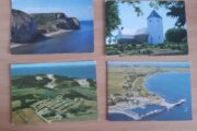 4 lokale gamle Postkort