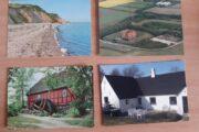 4 gamle lokale postkort