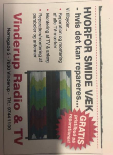 Vinderup Radio & TV Reparation/montering af paraboler, antenner, tv og anlæg