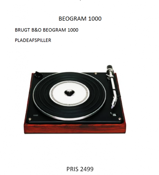 B&O BeoGram 1000