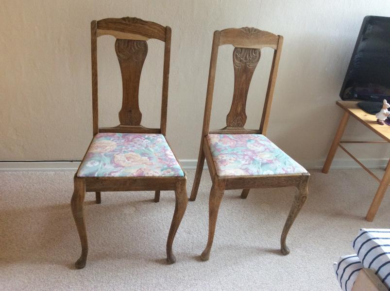 Egetræ stole