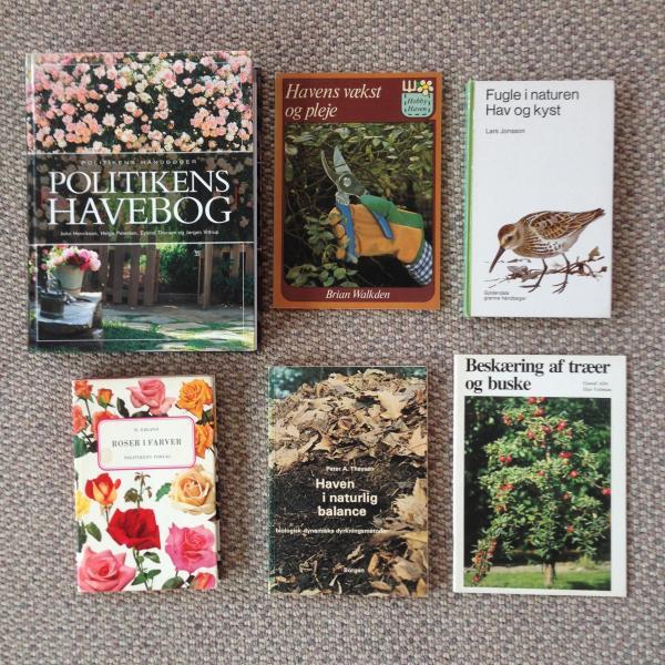 Bøger om haven og andet - Danmark - Alle bøgerne er i fin stand Giv et bud - Danmark