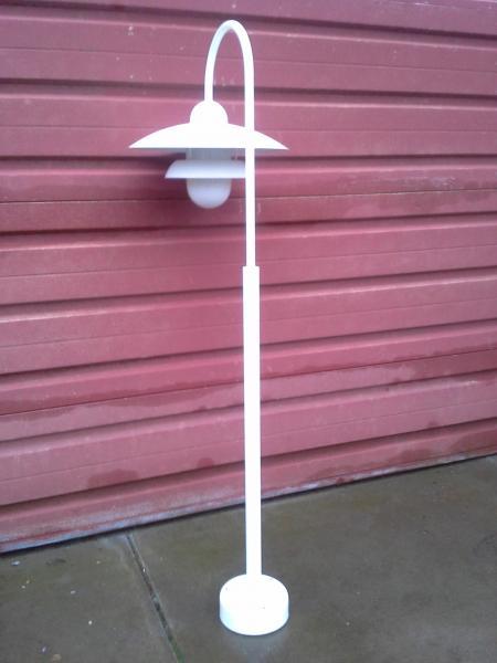 Lampe, udendørs hvid