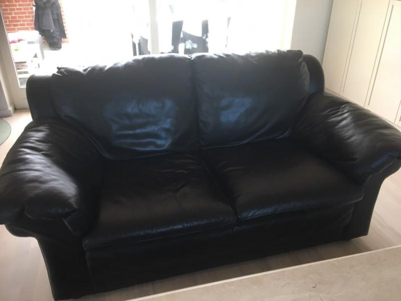 sofasæt, sort læder