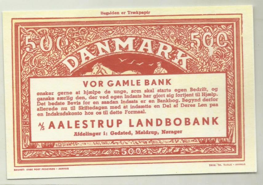 3 gamle reklame-sedler