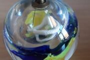 Smuk glas olielampe