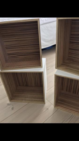 Bogkasser - Marianevej - 4 stk kvadratiske - Marianevej