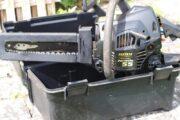 Motorsav og sikkerhedsstøvler