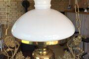 Petroliumslampe lavet til el