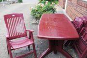 Havebordet + 8 stole