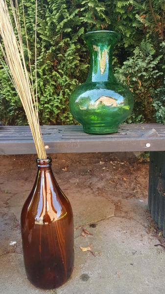 Store farvede Glasgulv-vaser
