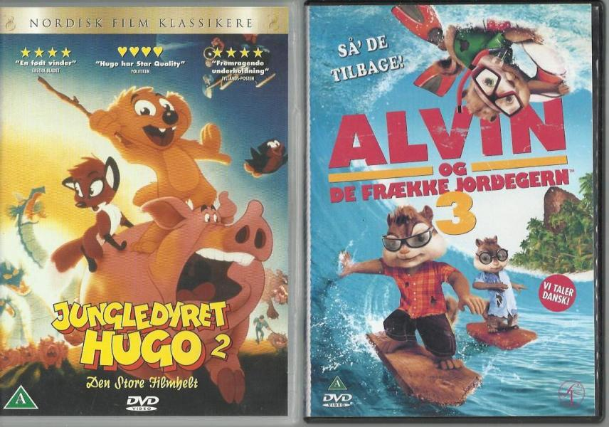 Børne DVDere 03 - Møllegade 22,1 Sal - blandet Mindste salg 6 stk for 100,-kr - Møllegade 22,1 Sal