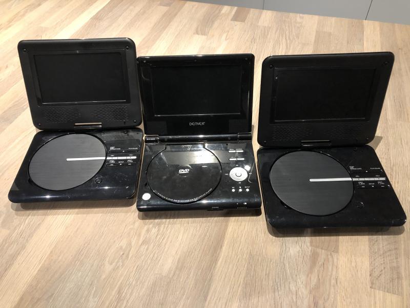 DVD Afspiller - Sverrigsvej 3 - 3 stk. DVD afspiller til bilen. - Sverrigsvej 3