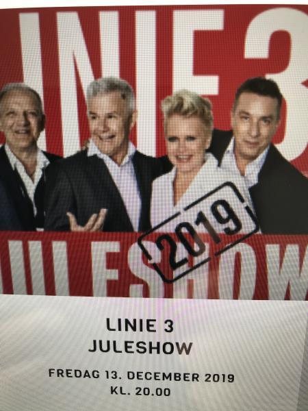 Juleshow Linie 3 - Bjarkesvej 134 - KCL Skive fredag den 13 December kl 20.00 Række: 4 Plads: 6 - Bjarkesvej 134