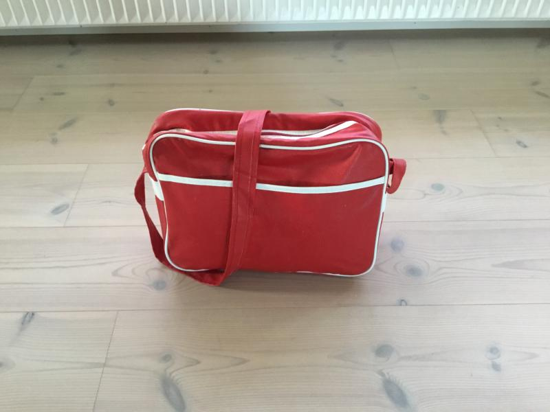 Rød convers all star taske