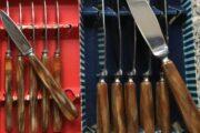 6 frugtknive og 6 smøreknive