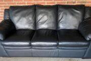 3+2 sofa, sort læder