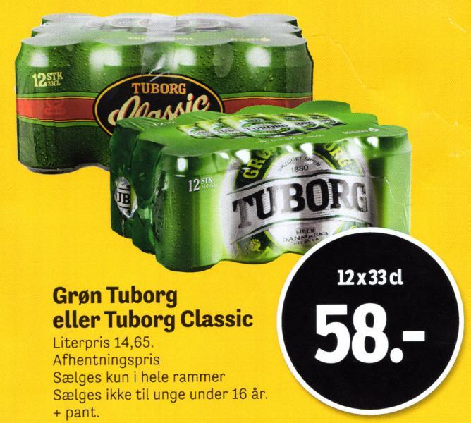 Grøn Tuborg eller Tuborg Classic