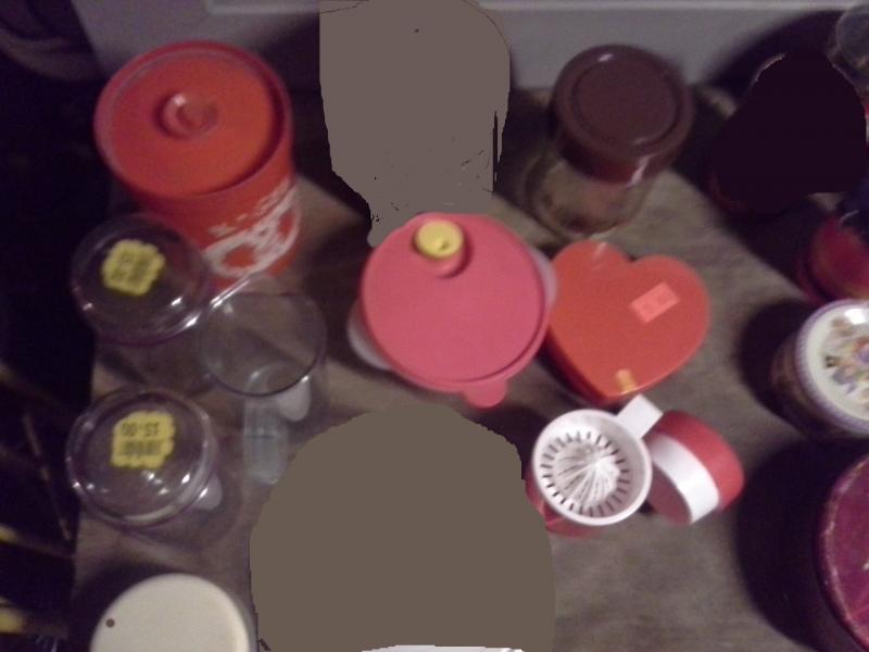 Kagedåser, plastik bøtter