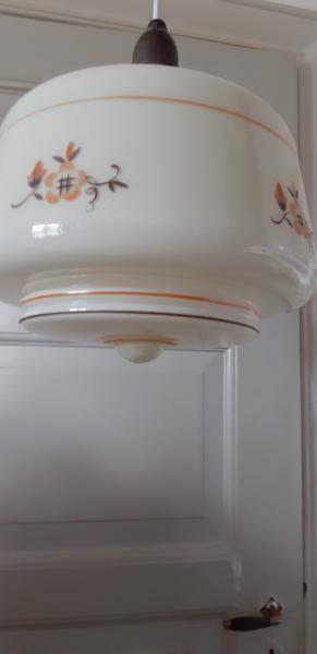 Antik glas loft lampe