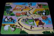 Aktivitets plade med dyr