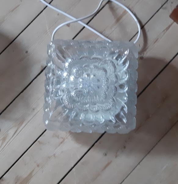 Roset lampe- flot mønster