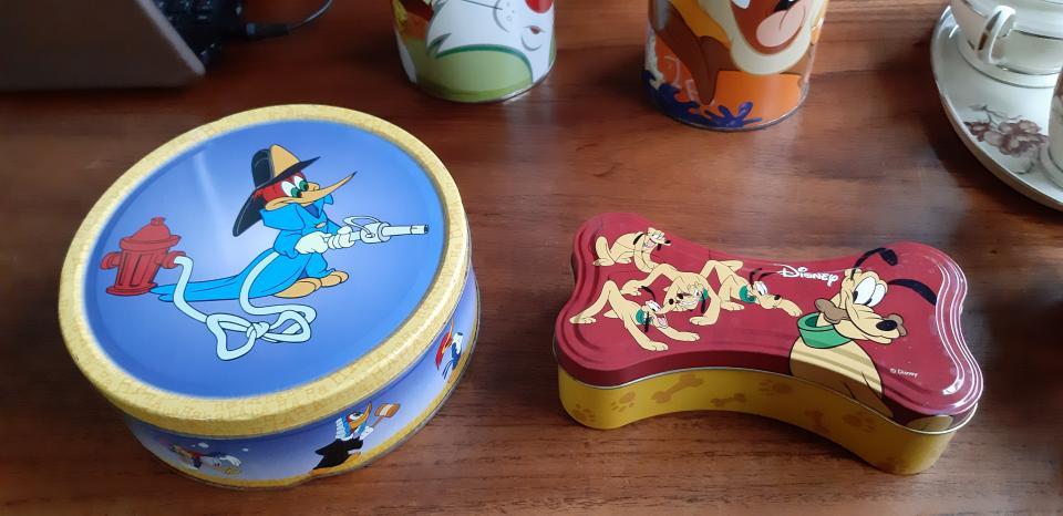 4 stk Disney dåser