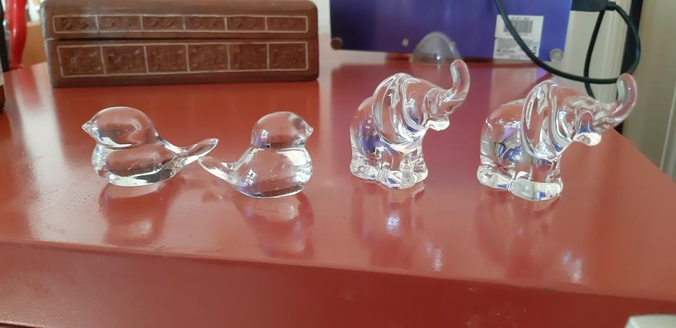 4 krystal dyr fra Tjekkiet