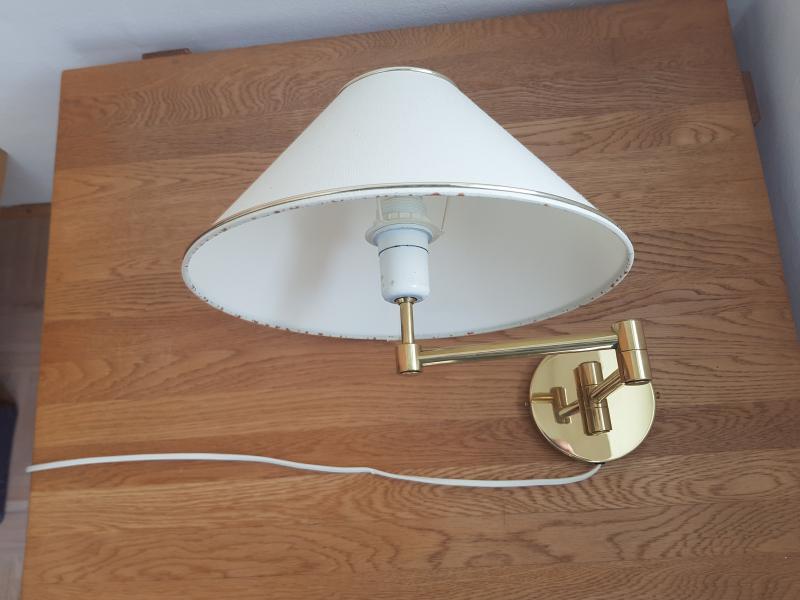 SOLGT: Messing væglamper, svingarm, 2 stk | PaulineK