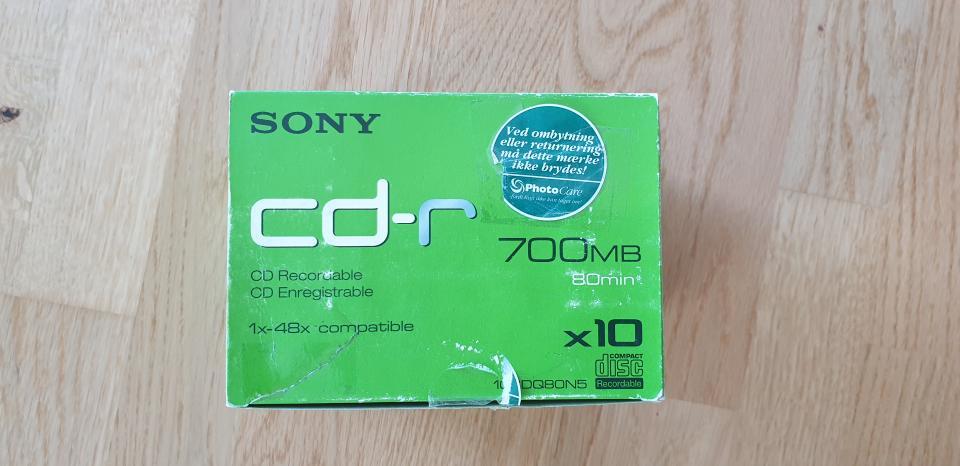 8 stk. CD rom 700 MB Nye