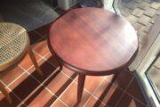 Rund bord i mahogni