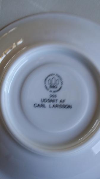 B. G. Carl Larsson Porcelæn.