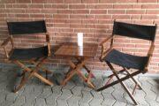 2 instruktørstole og bord