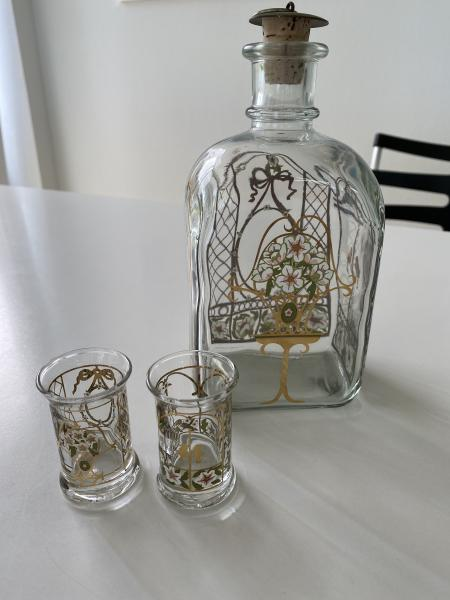 Holmegaard Karaffel og 2 glas