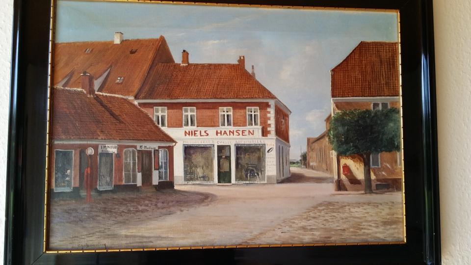 Maleri fra Ringkøbing Torv